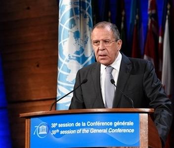 Выступление С.В. Лаврова на 38-й сессии Генеральной конференции ЮНЕСКО